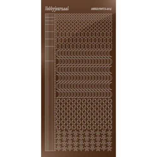 Hobbydots - Stickervel - Mirror Brown - Serie 16 (stdm16G)