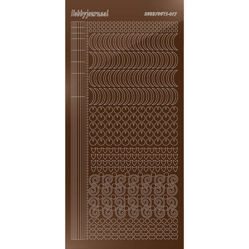 Hobbydots - Stickervel - Mirror Brown - Serie 17 (stdm17G)
