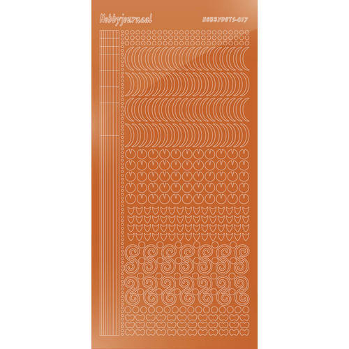 Hobbydots - Stickervel - Mirror Copper - Serie 17 (stdm17B)
