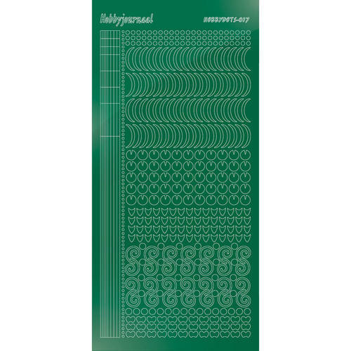 Hobbydots - Stickervel - Mirror Green - Serie 17 (stdm172)