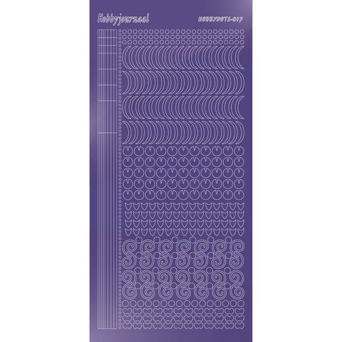 Hobbydots - Stickervel - Mirror Purple - Serie 17 (stdm179)