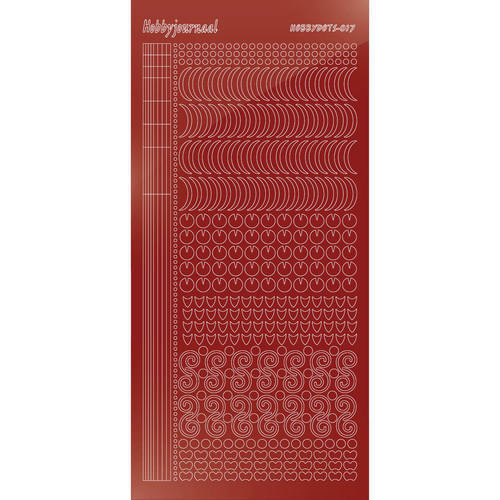 Hobbydots - Stickervel - Mirror Red - Serie 17 (stdm174)