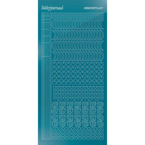 Hobbydots - Stickervel - Mirror Turquoise - Serie 17 (stdm17D)