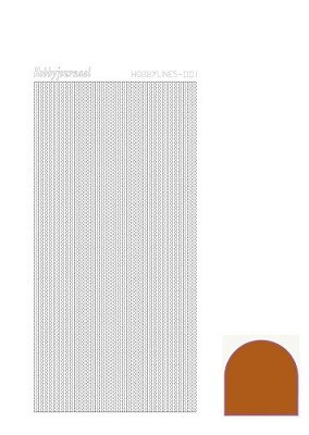 Hobbylines - Stickervel - Mirror Brown - Serie 1 (Hlm01G)