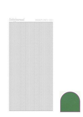 Hobbylines - Stickervel - Mirror Green - Serie 1 (Hlm012)