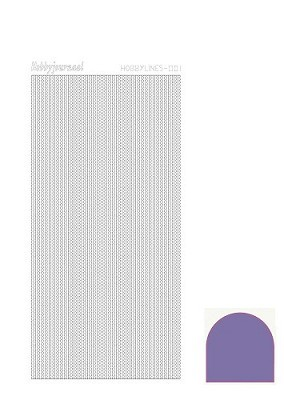 Hobbylines - Stickervel - Mirror Purple - Serie 1 (Hlm019)