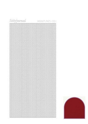 Hobbylines - Stickervel - Mirror Red - Serie 1 (Hlm014)