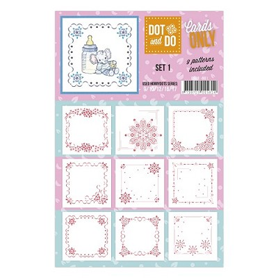 Hobbydots - Dot & Do - Cards Only - Oplegkaarten - Set 1