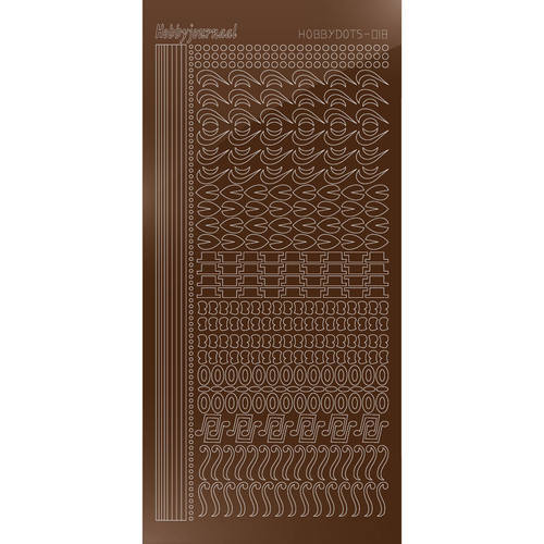 Hobbydots Serie 18 - Stickervel - Mirror Brown - (stdm18G)