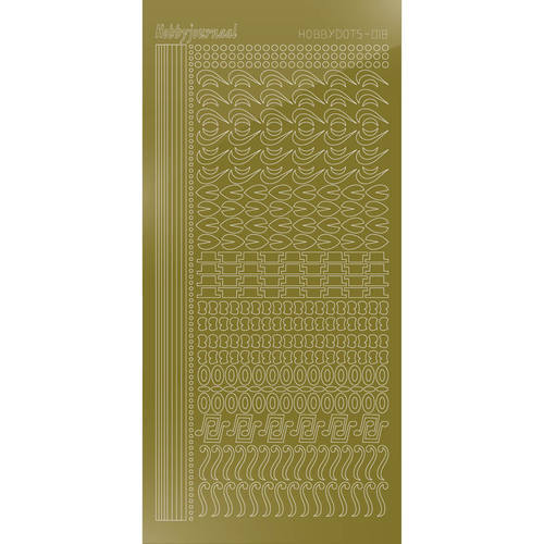 Hobbydots Serie 18 - Stickervel - Mirror Gold - (stdm187)