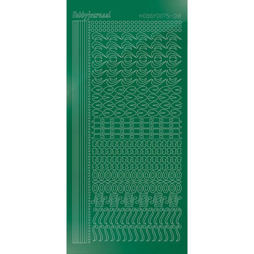 Hobbydots Serie 18 - Stickervel - Mirror Green - (stdm182)