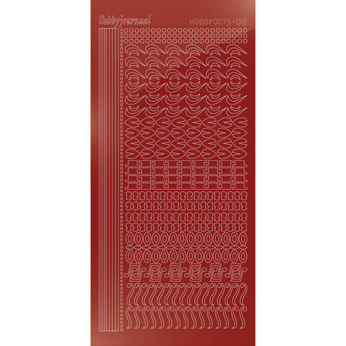 Hobbydots Serie 18 - Stickervel - Mirror Red - (stdm184)