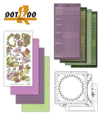 Hobbydots - Dot en Do Set - Wijn - Dodo-013