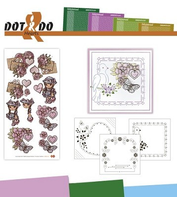Hobbydots - Dot en Do Set - Yvonne Creations Hearts - Dodo-015