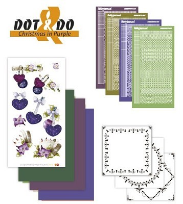 Hobbydots - Dot en Do Set - Christmas in Purple - Dodo-016