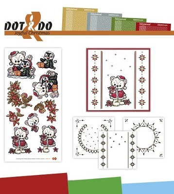 Hobbydots Dot en Do Set Yvonne Joyful Christmas - Dodo-022