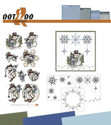 Hobbydots - Dot en Do Set - Yvonne Creations Snowmen - Dodo-024