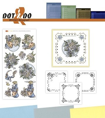 Hobbydots - Dot en Do Set - Yvonne Creations Winterflowers - Dodo-025