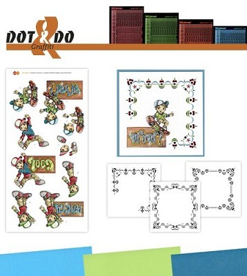 Hobbydots - Dot en Do Set - Yvonne Creations - Graffiti - Dodo-026