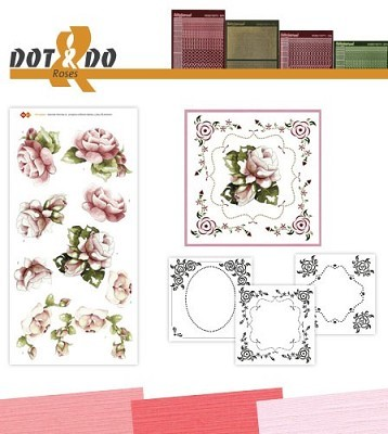 Hobbydots - Dot en Do Set - Marieke - Rozen - Dodo-027