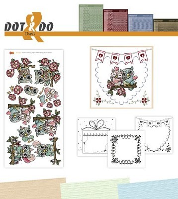 Hobbydots - Dot en Do Set - Yvonne Creations Uilen - Dodo-028
