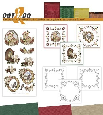 Hobbydots - Dot en Do Set - Amy Design - Kerstvogels - Dodo-039