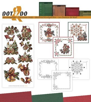 Hobbydots - Dot en Do Set 41 - Yvonne - Kerstvogels - Dodo-041