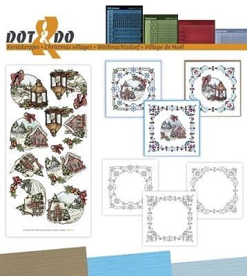 Hobbydots - Dot en Do Set - Yvonne Creations - Kerstdorpen - Dodo-042