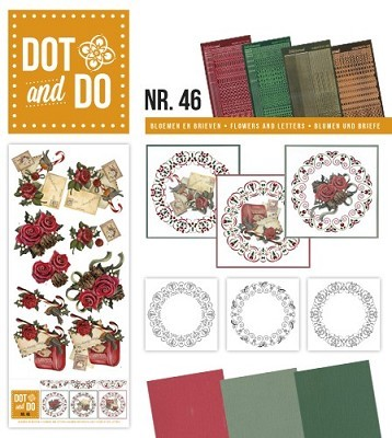 Hobbydots - Dot en Do 46 - Amy Design - Bloemen en Brieven - Dodo-046
