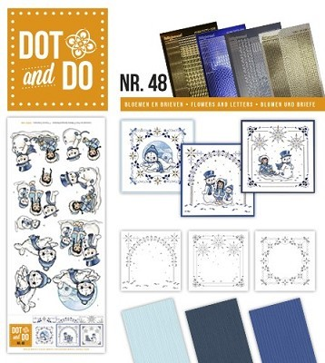 Hobbydots - Dot en Do Set - Yvonne Creations - Playful Winter - Dodo-048