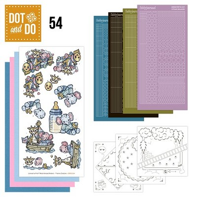 Hobbydots - Dot en Do Set 54 - Yvonne - Baby - Dodo-054