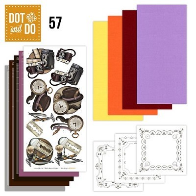 Hobbydots - Dot en Do Set 57 - Amy Design - Camera - Dodo-057