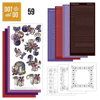 Hobbydots - Dot en Do Set 59 - Yvonne Creations - Kerstmuizen - Dodo-059