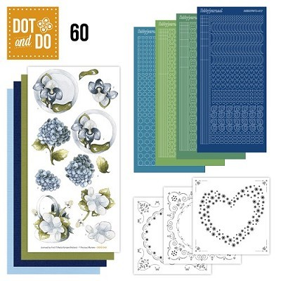 Hobbydots - Dot en Do Set 60 - Marieke Design - Bloemen - Dodo-060