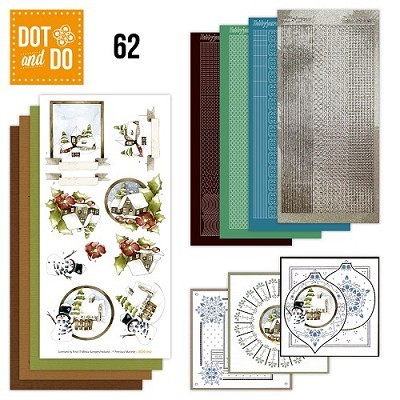Hobbydots - Dot en Do Set 62 - Precious Marieke - Country Christmas - Dodo-062