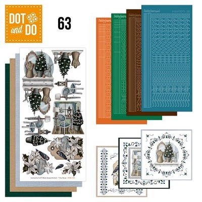 Hobbydots - Dot en Do Set 63 - Amy Design - Brocante Kerst - Dodo-063