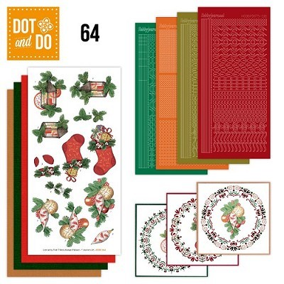 Hobbydots - Dot en Do Set 64 - Jeanine - Christmas - Dodo-064