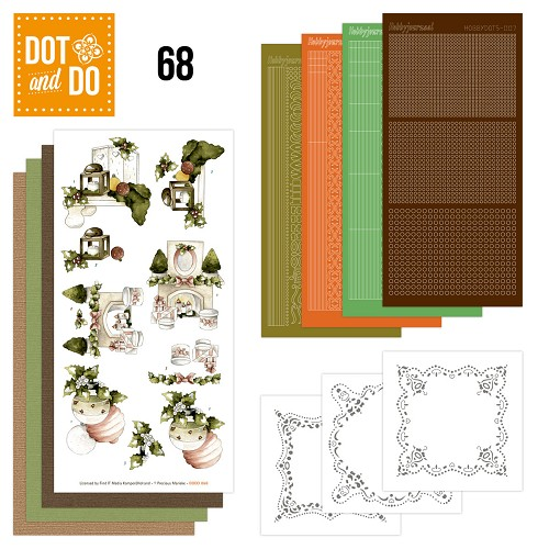 Hobbydots Dot and Do Set 68 - Rustic Christmas - Marieke - Dodo-068
