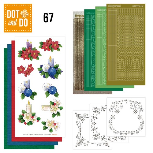 Hobbydots Dot and Do set 67 - Christmas Candles - Dodo067