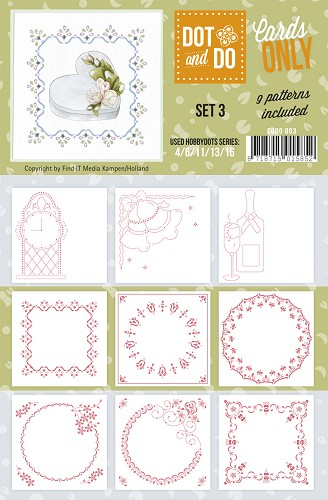 Hobbydots - Dot & Do - Cards Only - Oplegkaarten - Set 3
