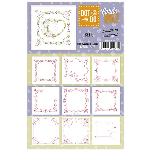 Hobbydots - Dot & Do - Cards Only - Oplegkaarten - Set 5