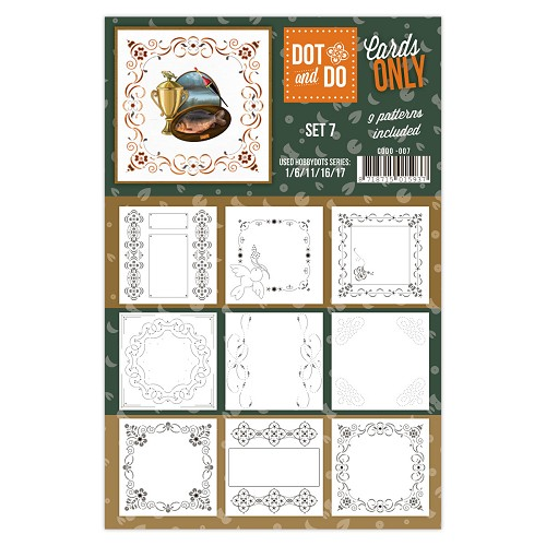 Hobbydots - Dot & Do - Cards Only - Oplegkaarten - Set 7
