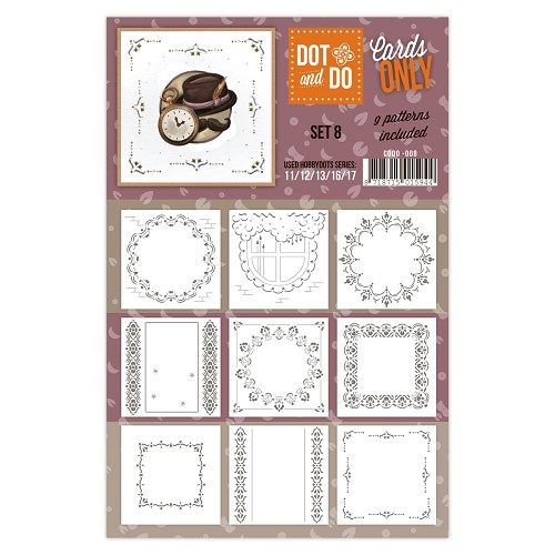 Hobbydots - Dot & Do - Cards Only - Oplegkaarten - Set 8