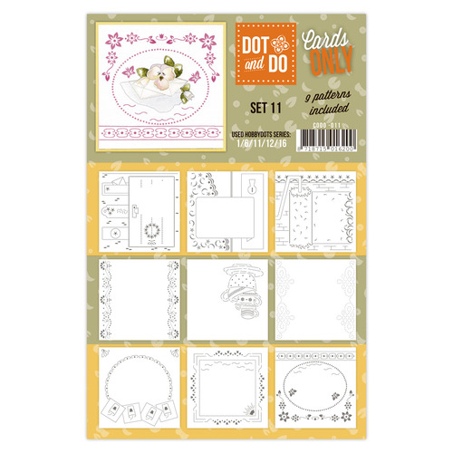 Hobbydots - Dot & Do - Cards Only - Oplegkaarten - Set 11