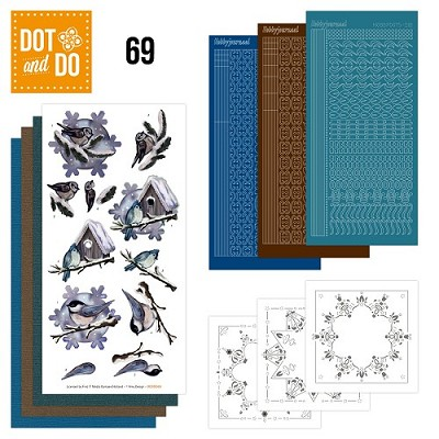 Hobbydots - Dot en Do Set 69 - Amy Design - Winter Birds - Dodo-069