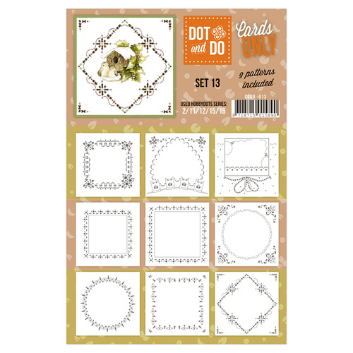 Hobbydots - Dot & Do - Cards Only - Oplegkaarten - Set 13
