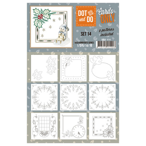 Hobbydots - Dot & Do - Cards Only - Oplegkaarten - Set 14