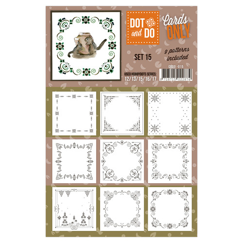 Hobbydots - Dot & Do - Cards Only - Oplegkaarten - Set 15