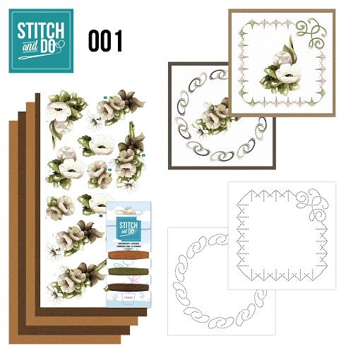 Stitch en Do Set 1 - Precious Marieke - Bloemen  - STDO001