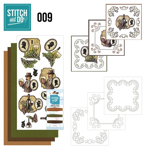 Stitch en Do Set 9 - Yvonne Creations - Wijn en Bier - STDO009